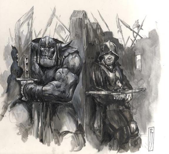 Chevalier Et Orc Paul Jeacock