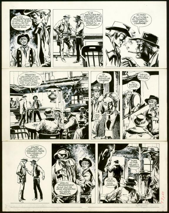 William Vance - Ringo, La Ville de la peur, Planche original