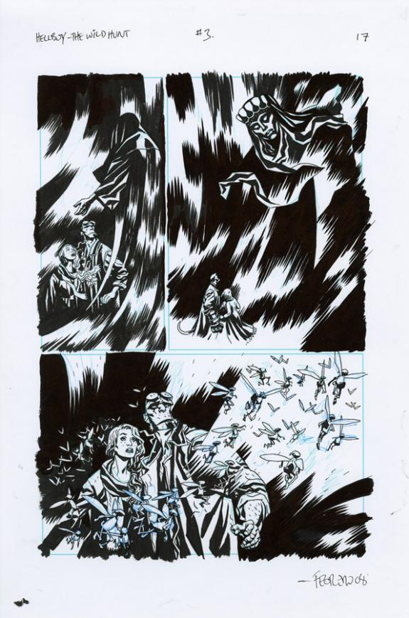 Duncan Fegredo - Hellboy, The Wild Hunt, Issue 3 - Page 17 e