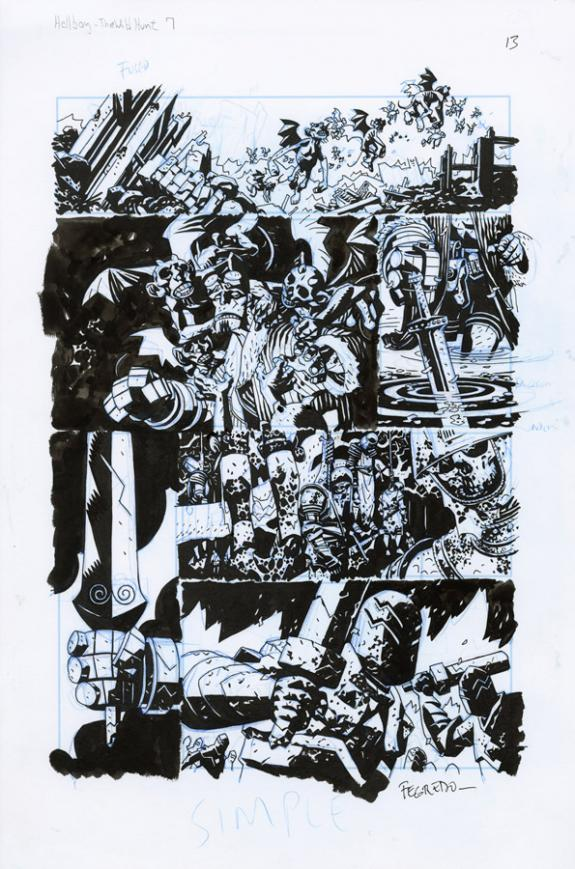 Duncan Fegredo - Hellboy, The Wild Hunt, Issue 7 - Page 13