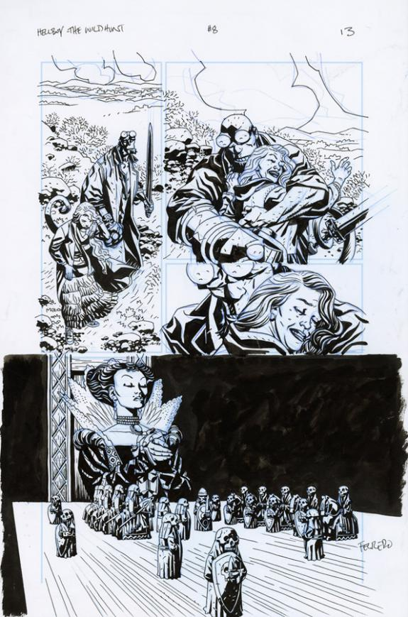 Duncan Fegredo - Hellboy, The Wild Hunt, Issue 8 - Page 13