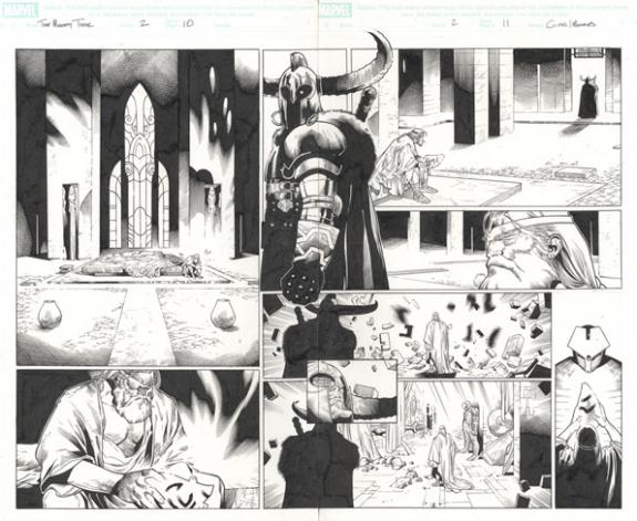 Olivier Coipel - The Mighty Thor, Issue #2 double page 10 et