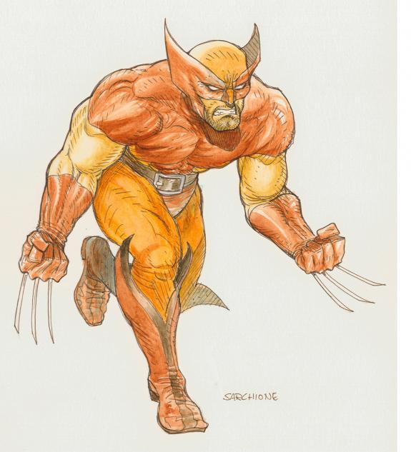Dessin original wolverine antonio sarchione - Wolverine dessin ...