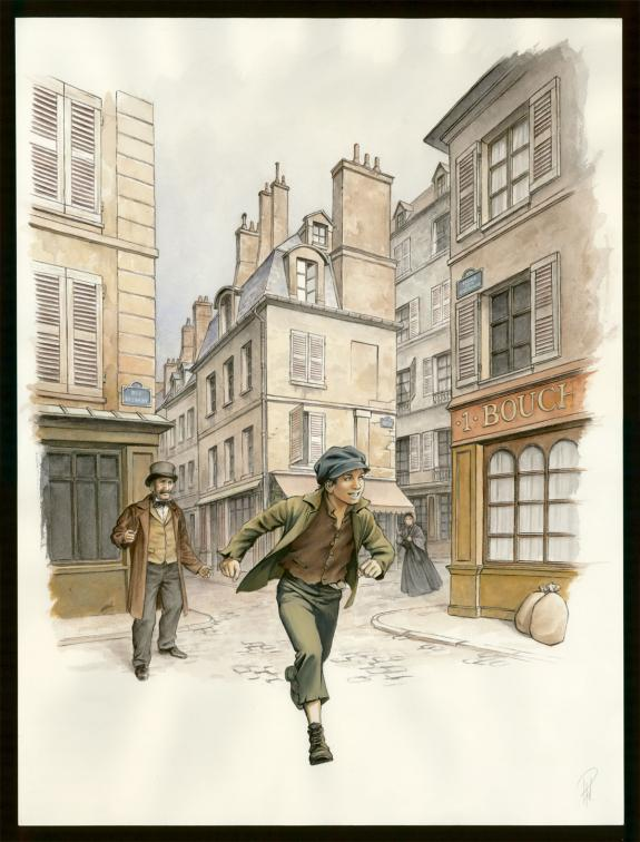 Laurent Paturaud - Illustration originale - Gavroche courant