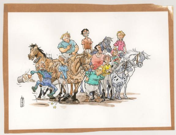Benoit Du Peloux - Triple galop, Illustration originale util