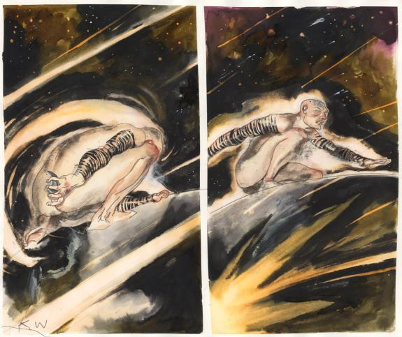 Kent Williams - The Fountain, Planche originale