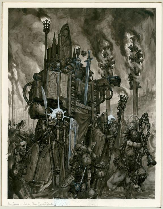 "Paul Dainton - Warhammer 40000, Illustration originale ""Judg"