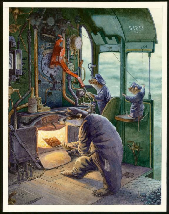 "Christopher Dunn - Illustration originale, ""On The Footplate"
