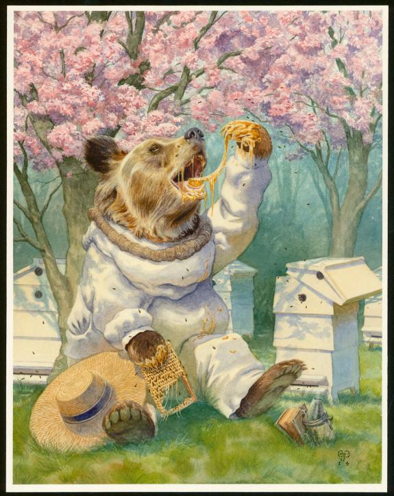 "Christopher Dunn - Illustration originale, ""Beekeeper"""