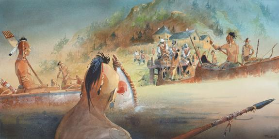 Patrick Prugne - Iroquois, illustration originale