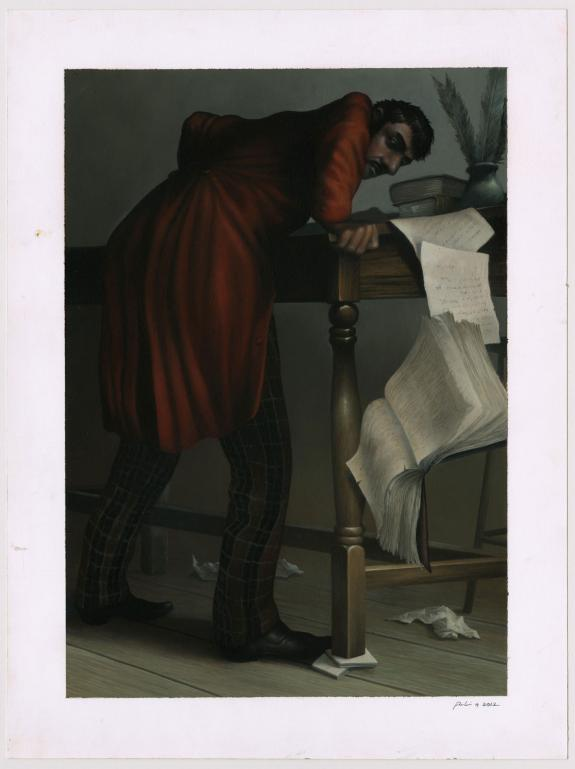 Stéphane Poulin - Bartleby, le scribe, illustration original