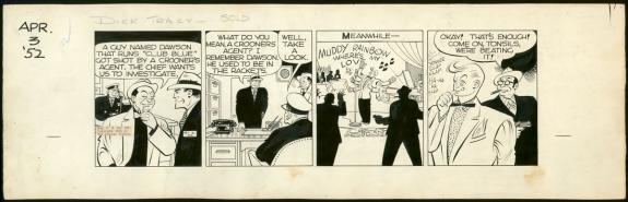Chester Gould - Dick Tracy, Strip original du 3 avril 1952
