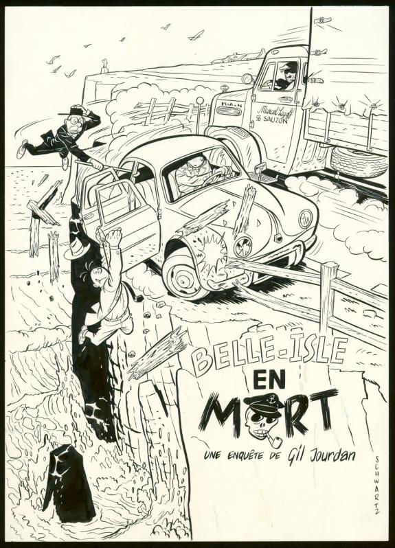 Olivier Schwartz - Illustration originale pour une fausse co