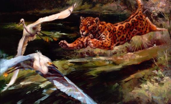 "Joe Weatherly - Illustration originale - ""ambush"""
