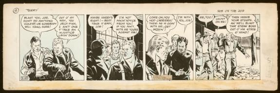 Milton Caniff - Terry and the pirates, Strip original - Mob