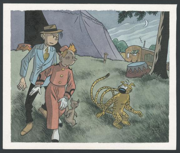 Frank Le Gall - Spirou , Illustration originale