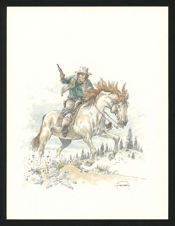 Hermann - Comanche, Dessin original, portrait de Red Dust