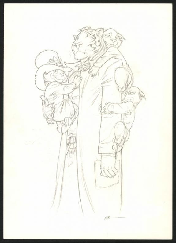 Olivier Boiscommun - Le Règne, Illustration originale