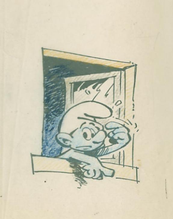 Studio Peyo - Les Schtroumpfs, Illustration originale publié