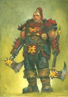 Adrian Smith - Warhammer on line, guerrier haches
