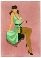 "Philippe Berthet - illustration originale ""Pink Lady"""