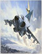 "Lucio Perinotto - illustration originale intitulée ""Harrier"