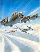 "Lucio Perinotto - illustration originale intitulée ""B-17"""