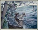 "Christopher Dunn - Illustration originale, ""Hauling The Nets"