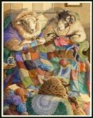"Christopher Dunn - Illustration originale, ""Knitting Circle"""