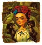 "Benjamin Lacombe - Frida Kahlo, Illustration originale  ""Les"