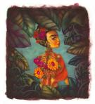 "Benjamin Lacombe - Frida Kahlo, Illustration originale  ""L'A"