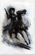 "Cromwell - Peinture intitulée ""Outlaw #3"""