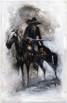 "Cromwell - Peinture intitulée ""Outlaw #5"""