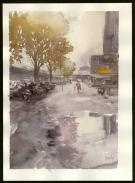 Jean-Paul Krassinsky - Aquarelle - Paris - Rue de Bercy