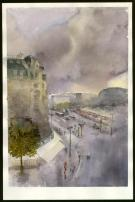 Jean-Paul Krassinsky - Aquarelle - Paris - Boulevard Diderot