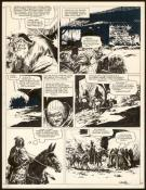William Vance - Ramiro, Planche originale n°17, copies collé